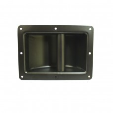 Handle, Black Metal, Recessed for Cabinet. 148x200mm