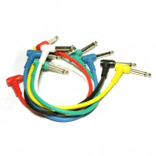 1/4 Angle Mono Jack-Jack cord Value Pack (6pcs)