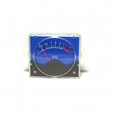 VU meter (55mm). Blue