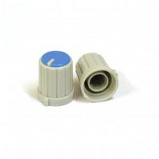 Пластиковая серая ручка (Синий) 16x13мм