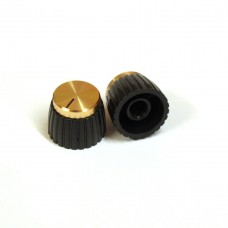 Marshall Style Knob (Gold, Knurled) 20mm