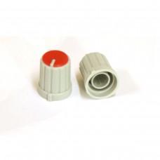 Пластиковая серая ручка (Красный) 16x13мм
